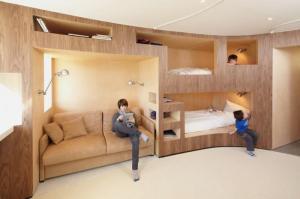 как расставить мебель в однокомнатной квартире с ребенком фото