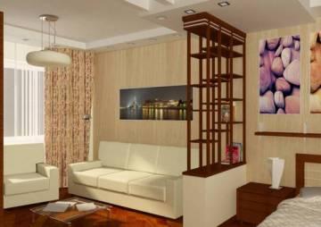 как поставить мебель в однокомнатной квартире фото