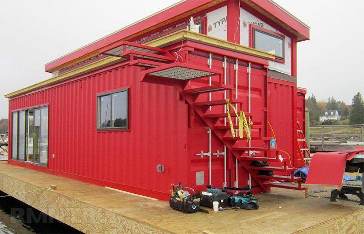 Дом из контейнеров проекты фото