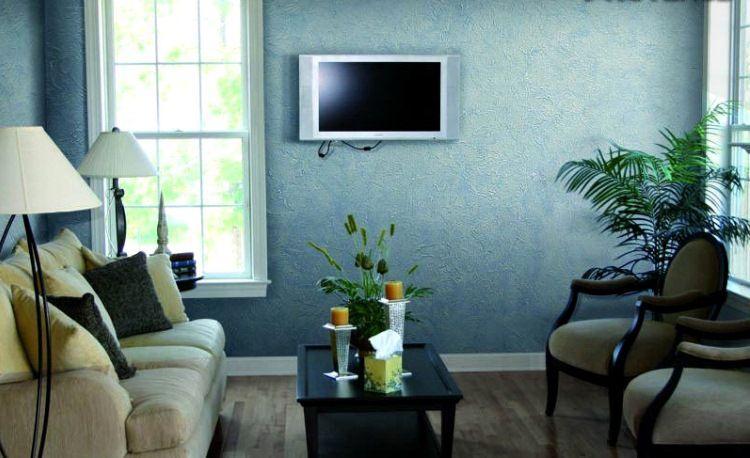Фото фактурной краски для стен в интерьере