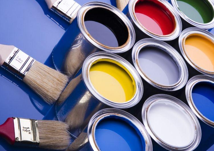 краска для стен в квартире фото