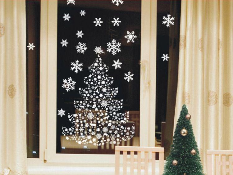 Новогоднее украшение окон фото