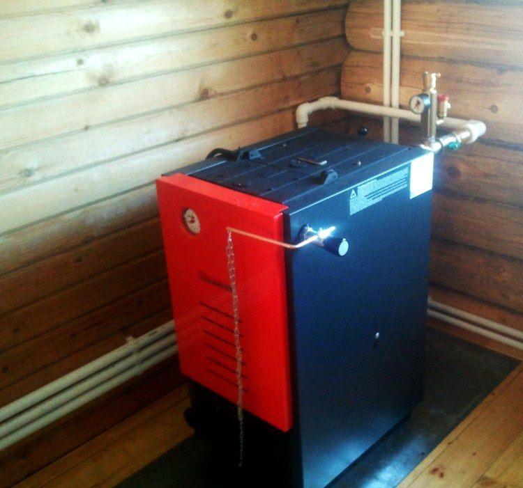 Отопление частного дома котел на твердом топливе  368