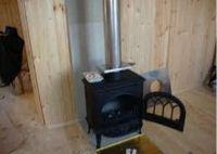 печь камин установка в деревянном доме