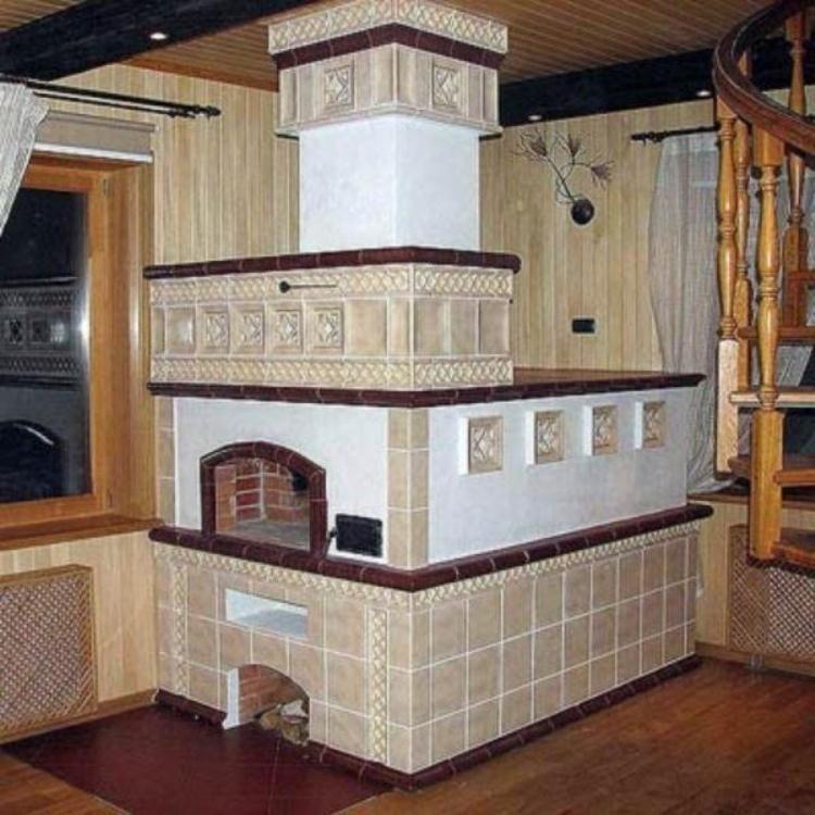печь в деревянном доме фото 7
