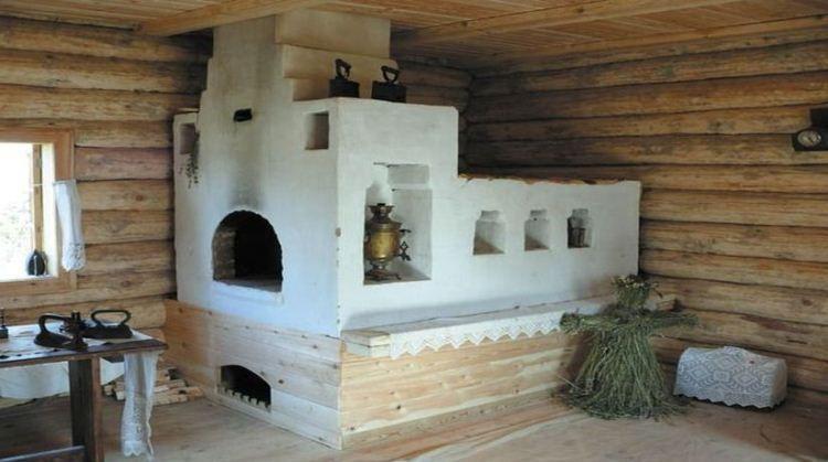 печь в деревянном доме фото 9