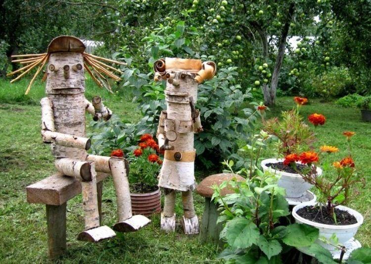 деревянные поделки для сада своими руками фото