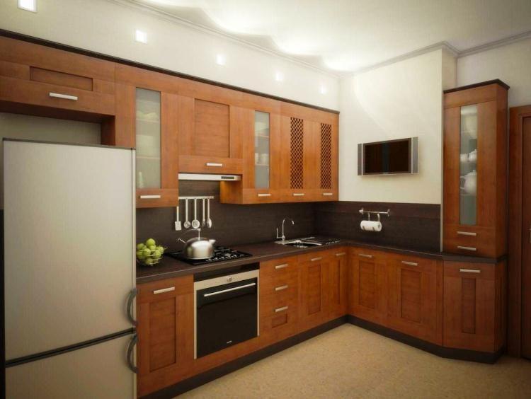 кухня угловая маленькая фото с холодильником