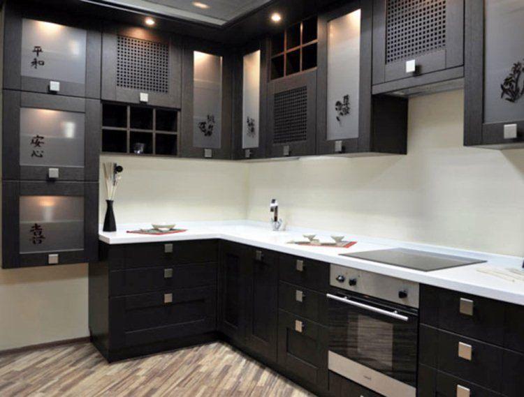 угловая небольшая кухня фото