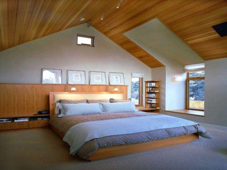 дизайн спальни в мансарде в современном стиле