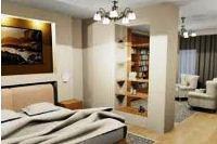 зонирование комнаты с помощью перегородки