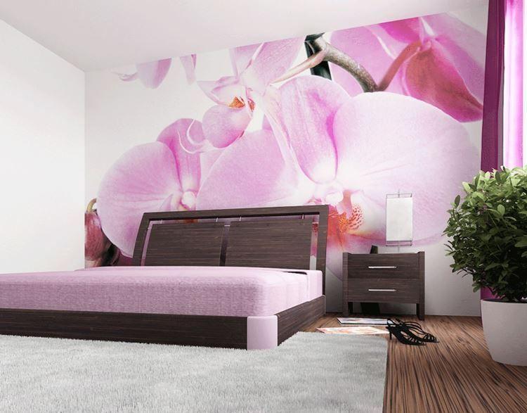 фотообои орхидея в спальне фото