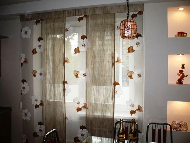 Красивые кухонные шторы фото