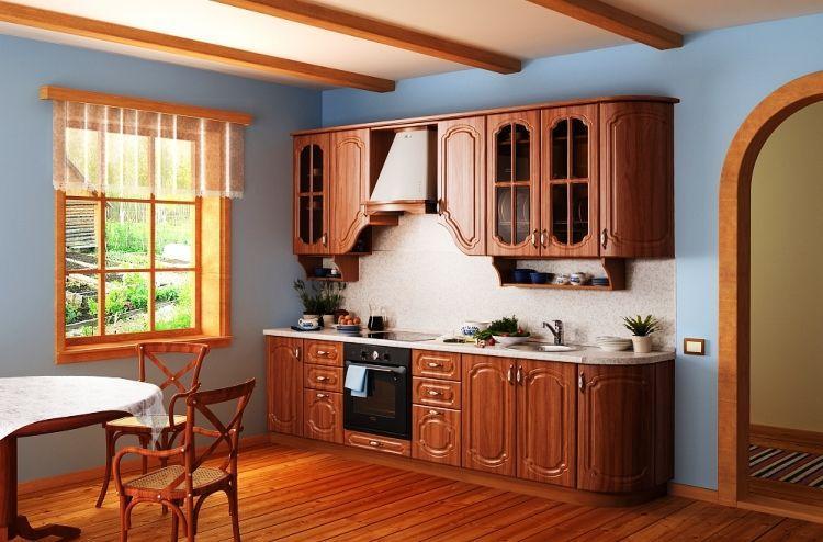 линейная кухня фото 11