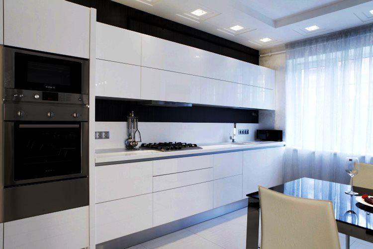 линейная кухня фото 2