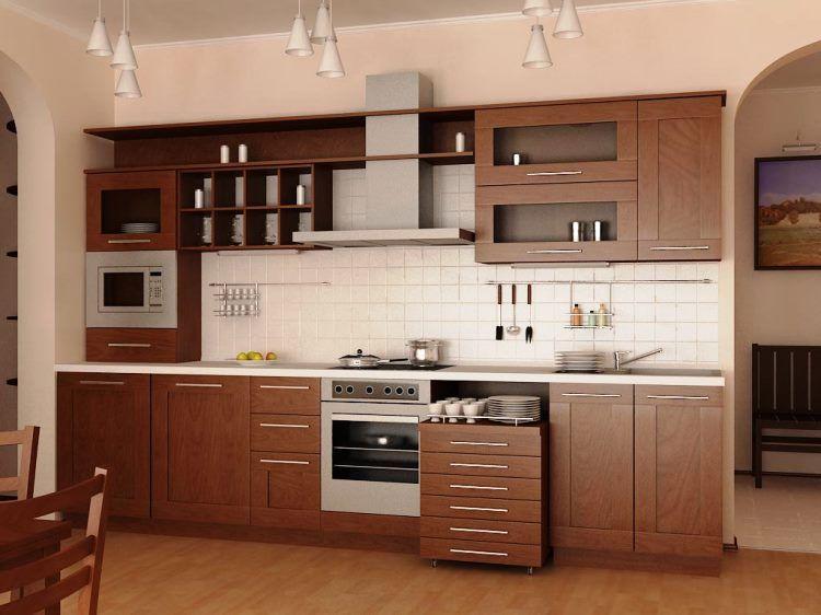 линейная кухня фото 5