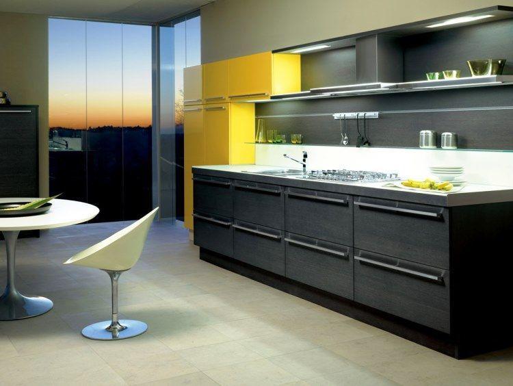 линейная кухня фото 6