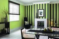 сочетание обоев двух цветов фото в гостиной