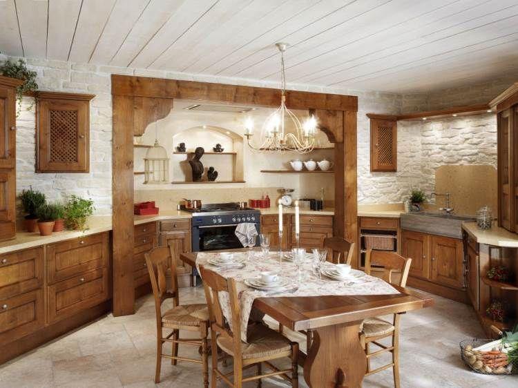 кухня в стиле рустик фото