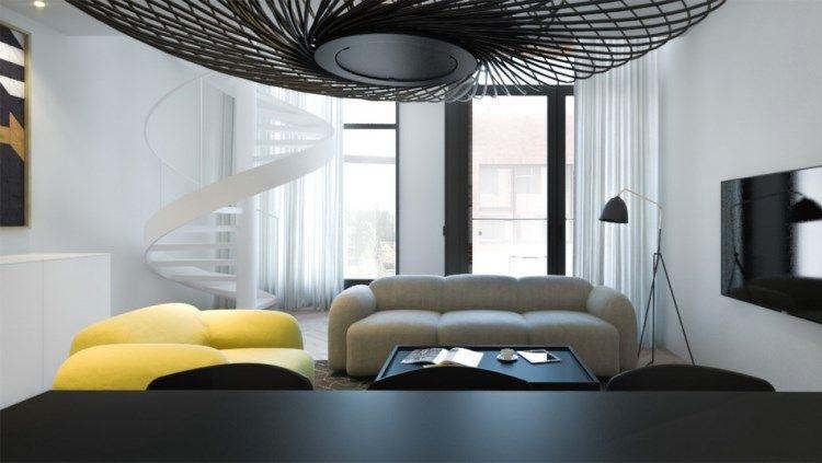 Зал в черно белом стиле фото