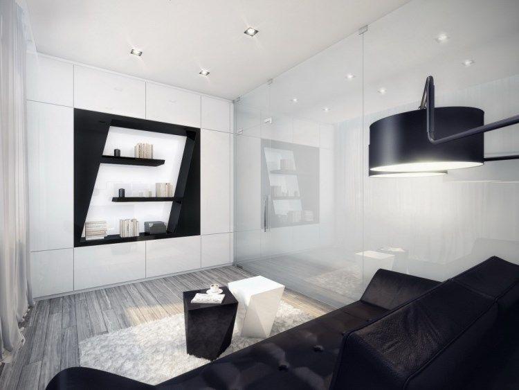 Зал черно белый фото дизайн