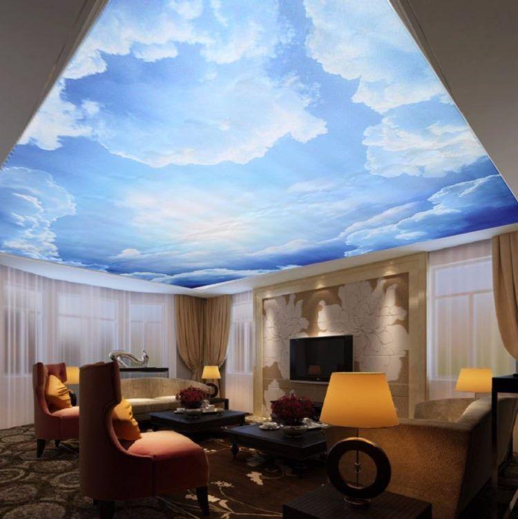 фрески в интерьере гостиной фото 11