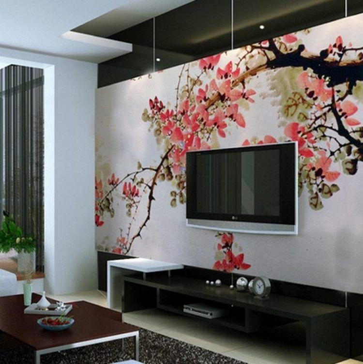 фрески в интерьере гостиной фото 12
