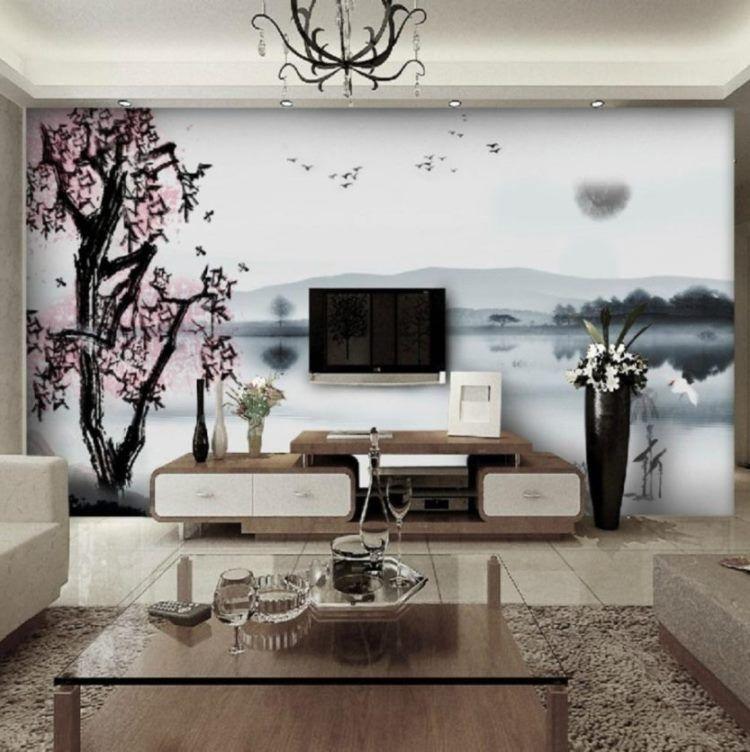 фрески в интерьере гостиной фото 13