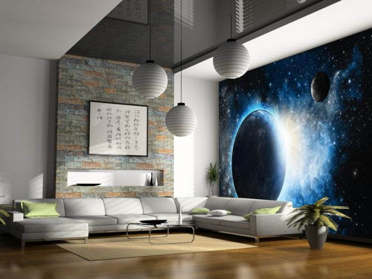фрески в интерьере гостиной фото 14
