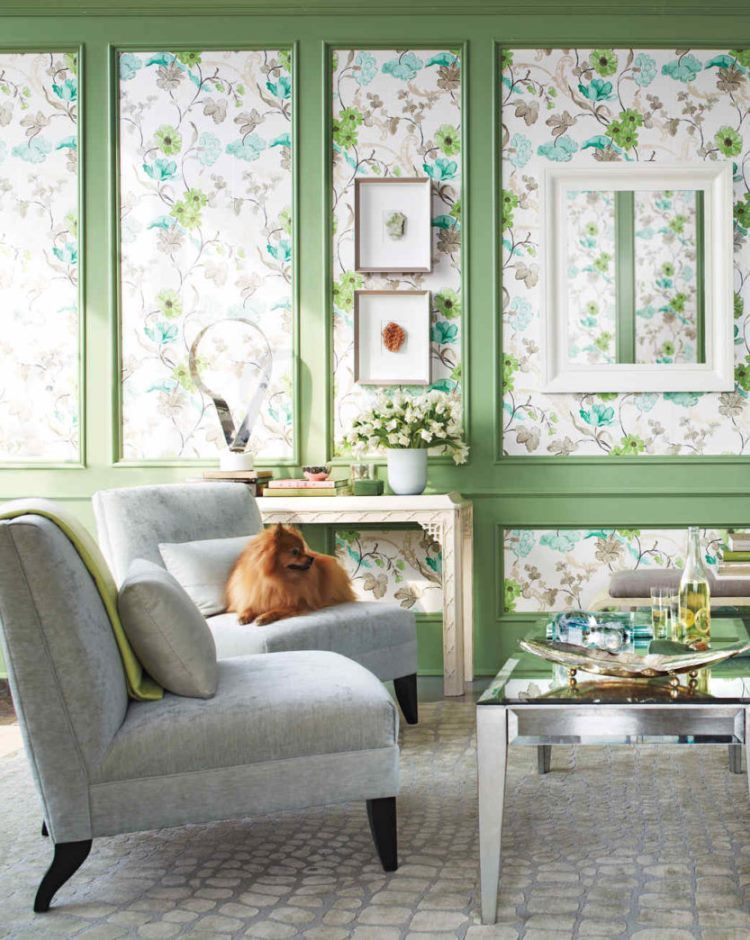 фрески в интерьере гостиной фото 15