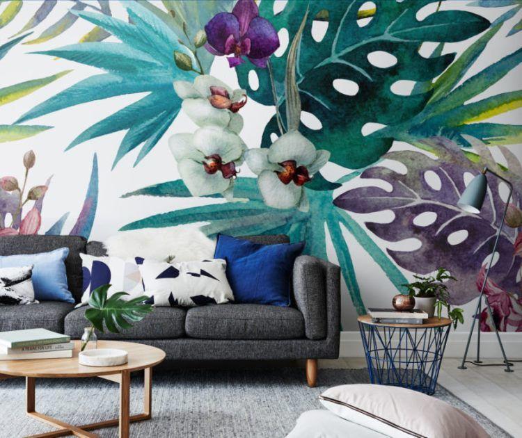 фрески в интерьере гостиной фото 17