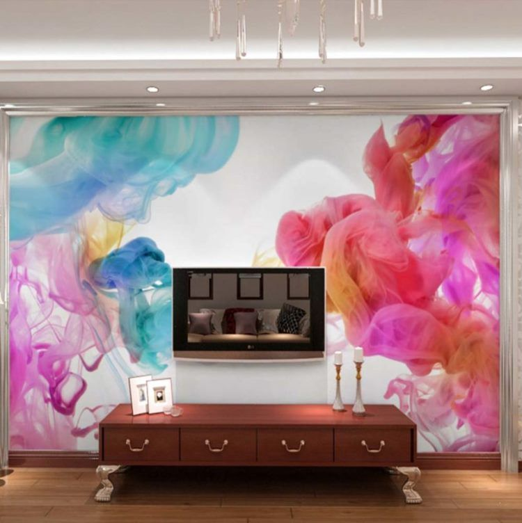 фрески в интерьере гостиной фото 2