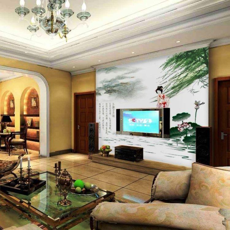 фрески в интерьере гостиной фото 22