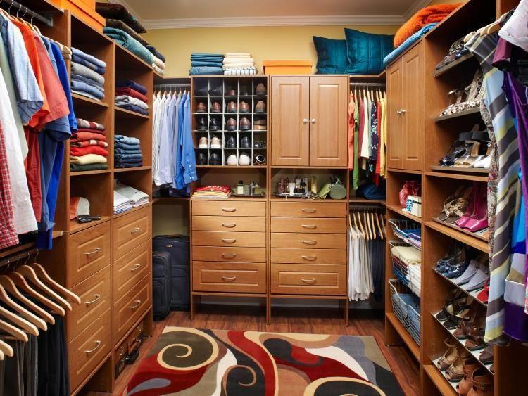 Как оборудовать гардеробную комнату фото