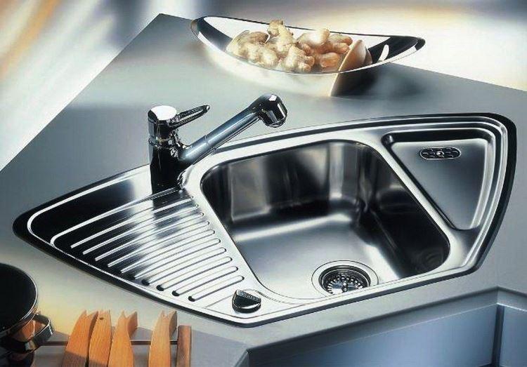 угловая мойка для кухни фото 16