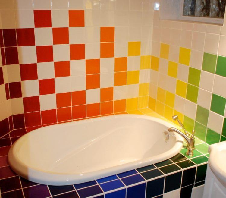 Дизайн кафельной плитки в ванной: Укладка кафельной плитки в ванной: правила, варианты