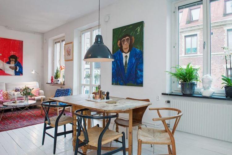 гостиная в скандинавском стиле фото 12