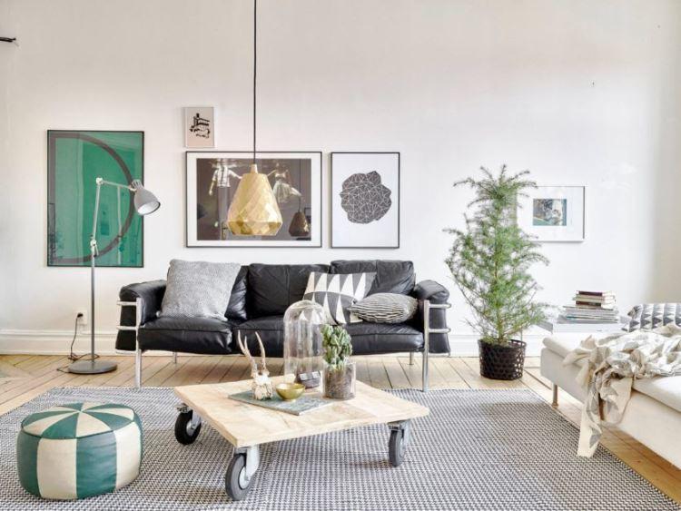 гостиная в скандинавском стиле фото 2