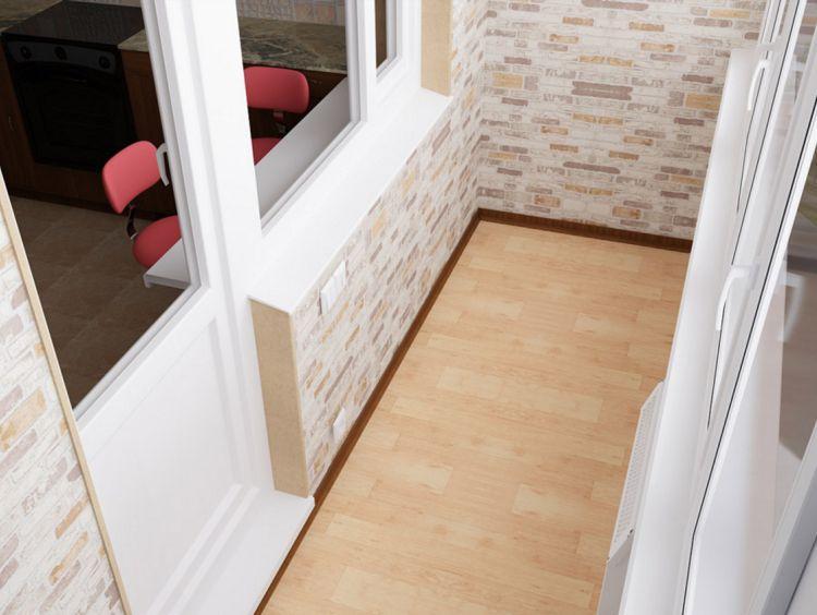 Отделка пола на балконе по низким ценам. теплые полы на балк.