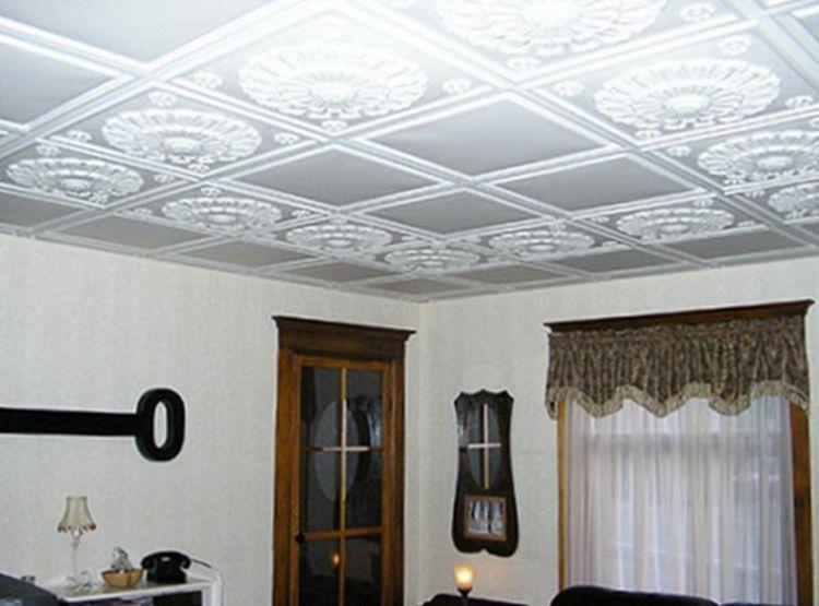 потолочная плитка из пенополистирола фото 9