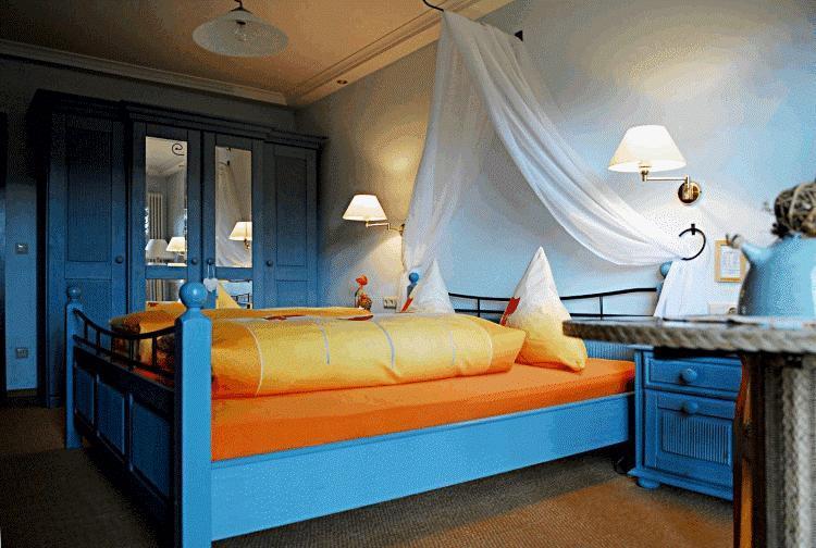 Голубая спальня фото 11