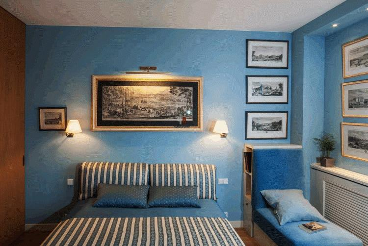 Спальни в голубом цвете фото
