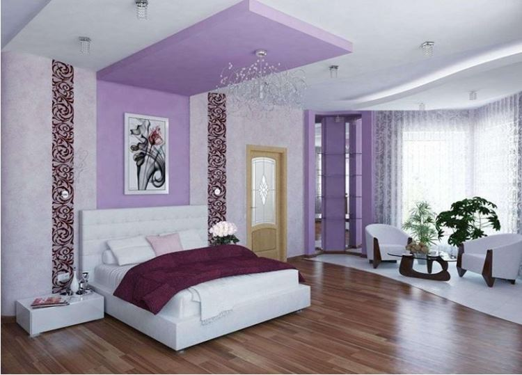 сиреневая спальня фото 14