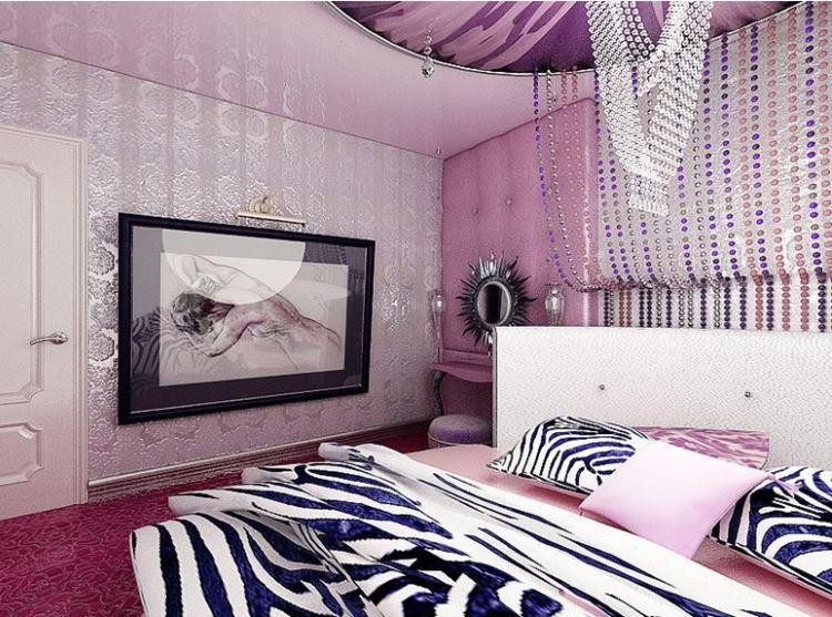 сиреневая спальня фото 16