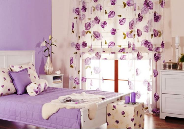 сиреневая спальня фото 2