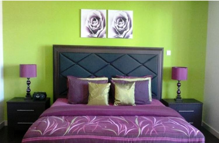 сиреневая спальня фото 9