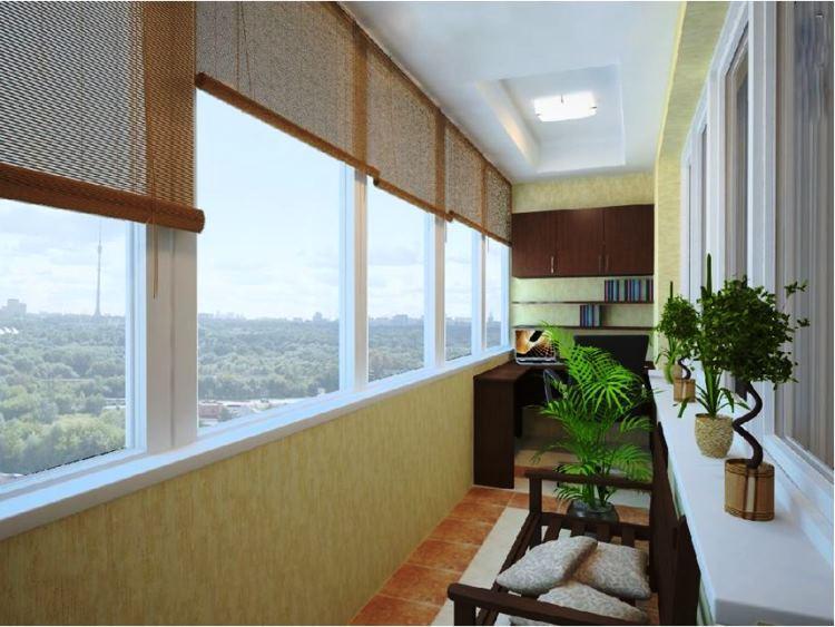 кабинет на балконе фото 17
