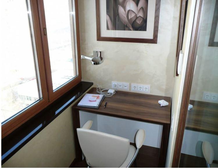 кабинет на балконе фото 4