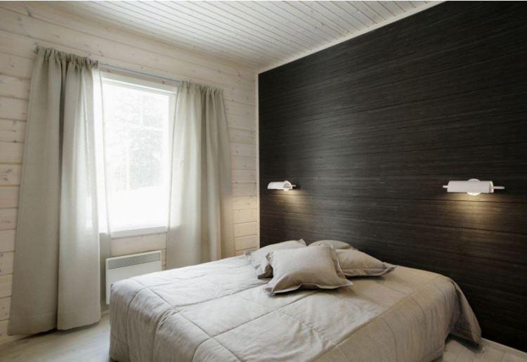 ламинат на стене в интерьере фото 4