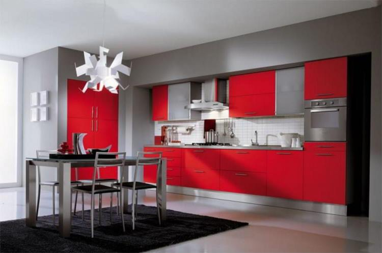 красная кухня фото 10